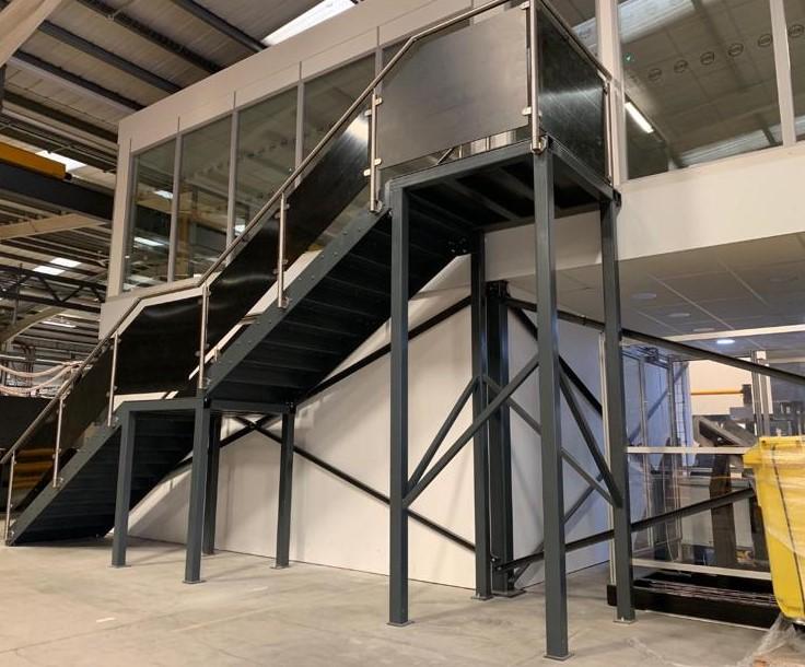 CE Marking EN1090 Steel Fabrication Staircase